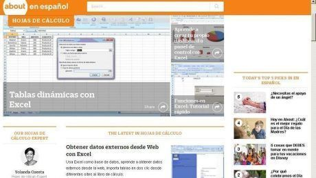 video hojas de calculo About.com
