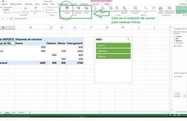 Filtrar datos en las tablas dinámicas