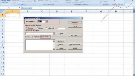 Solver herramienta Excel