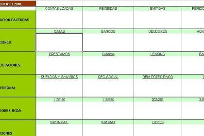 Lista contable y fiscal
