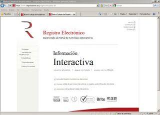 Registro mercantil online