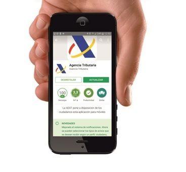 AEAT nueva web para móviles