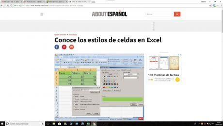 Hojas de cálculo About Excel