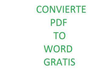 Convierte gratis PDF a Word