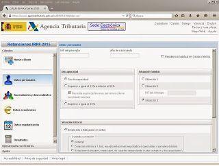 Calcular retenciones online AEAT