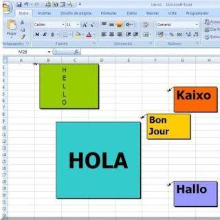 Hola hojas Excel