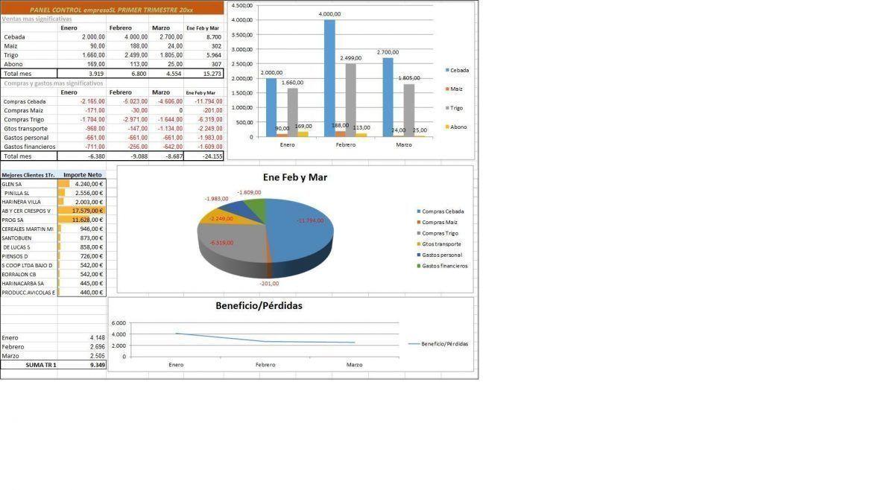 Gráficos análisis excel