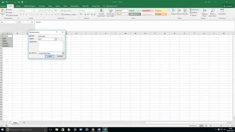Excel listas desplegables