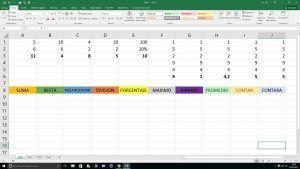 Excel funciones de Estadística