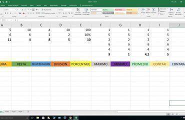 Funciones básicas Excel