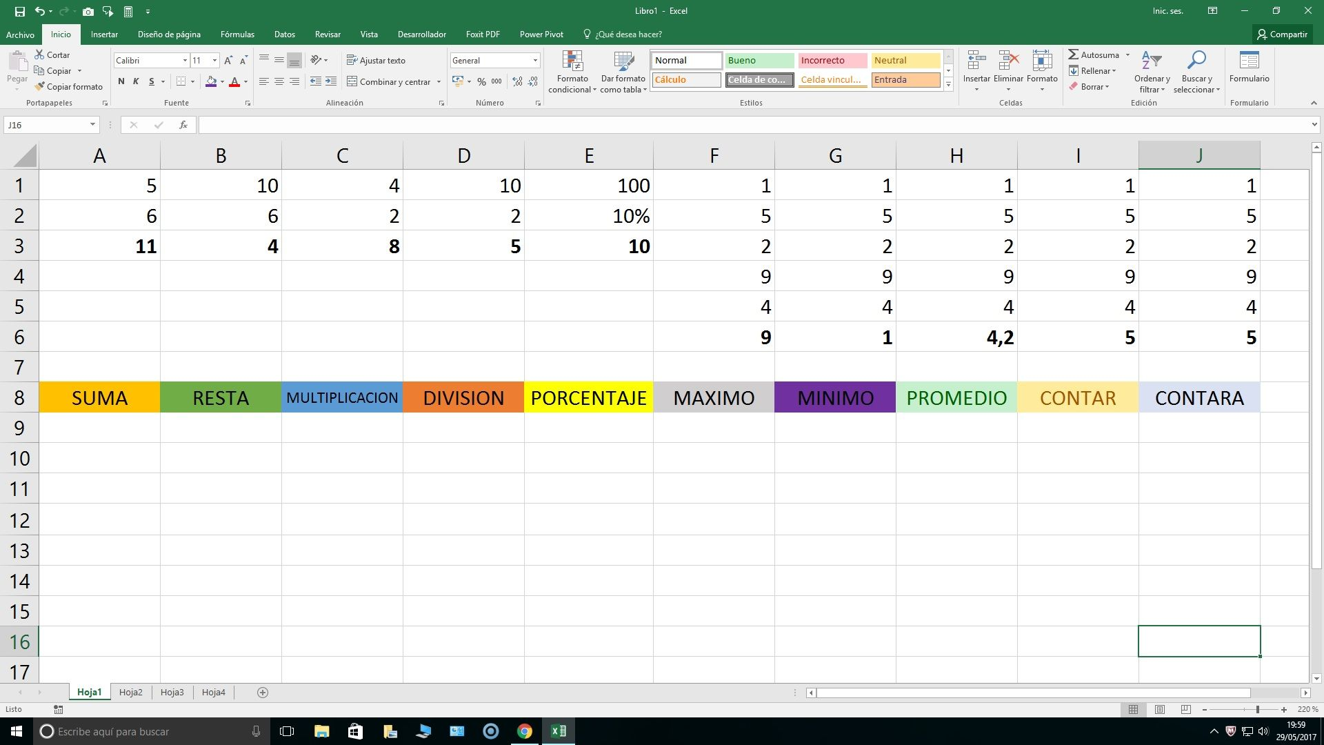 10 funciones de Excel