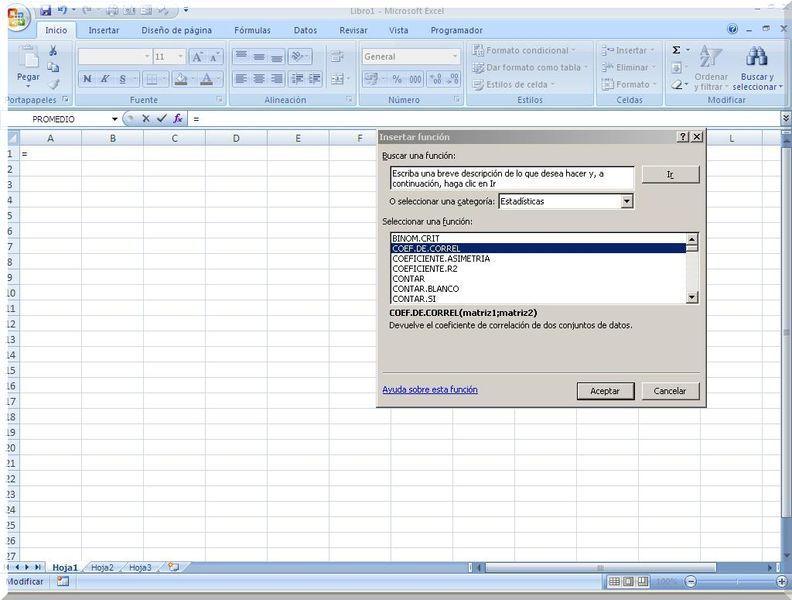 Principales funciones de Excel