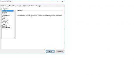 Formatos celdas Excel