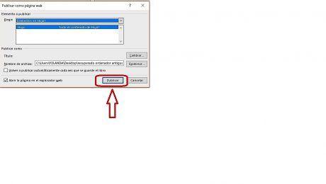 Convertir Excel a web
