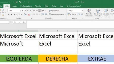Extraer en Excel datos de celdas