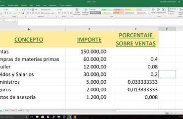 Análisis con Excel gastos e ingresos