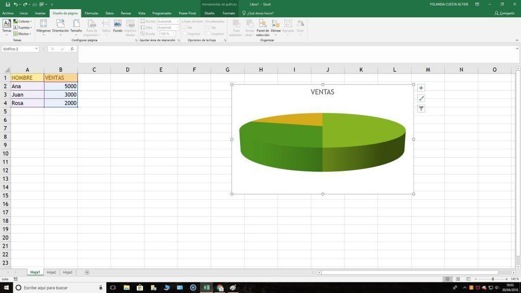 Tema Excel grafico