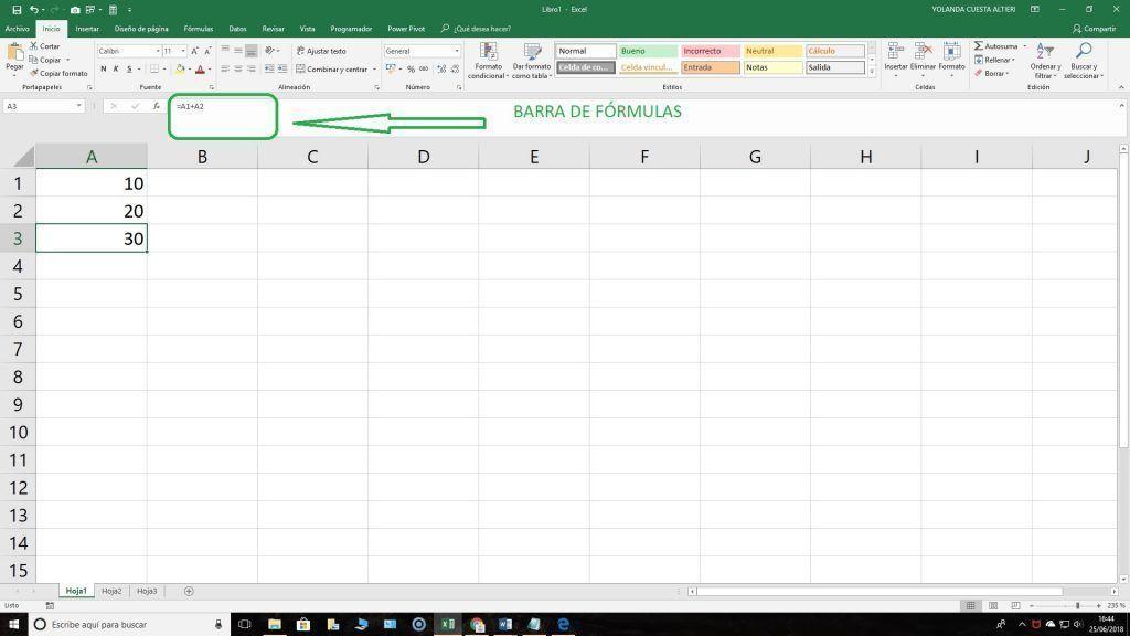 Suma en Excel