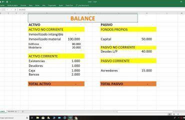 Plantilla balance Excel