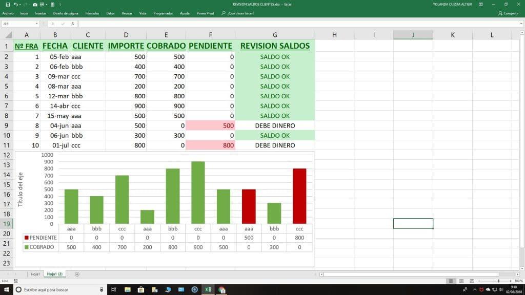 Control cobros Excel