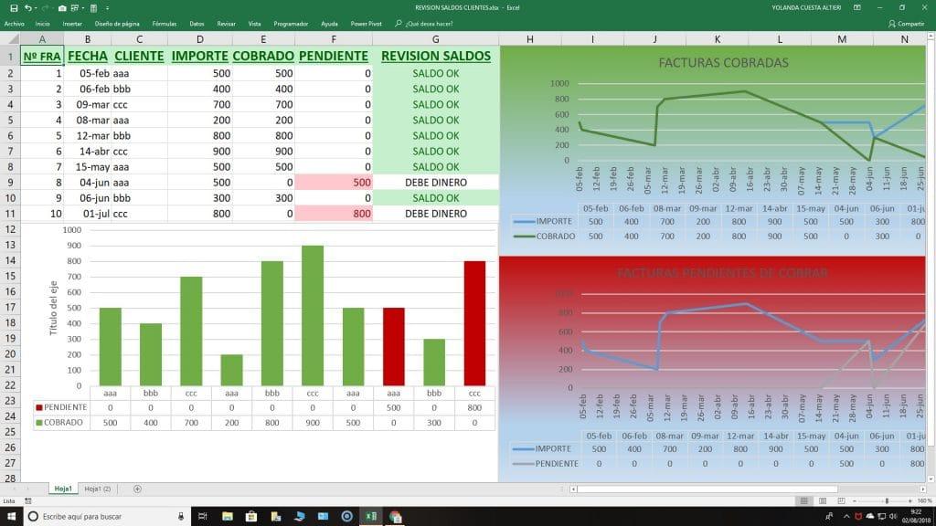 Hoja Excel control cobros