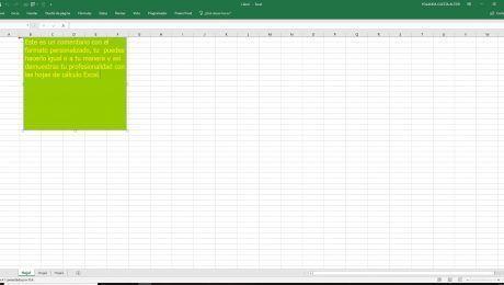 Personaliza comentarios Excel