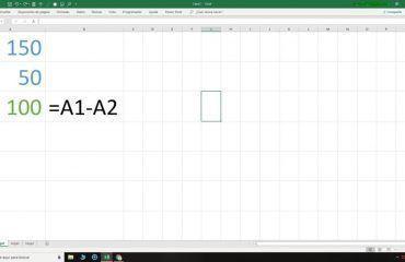 Resta en Excel