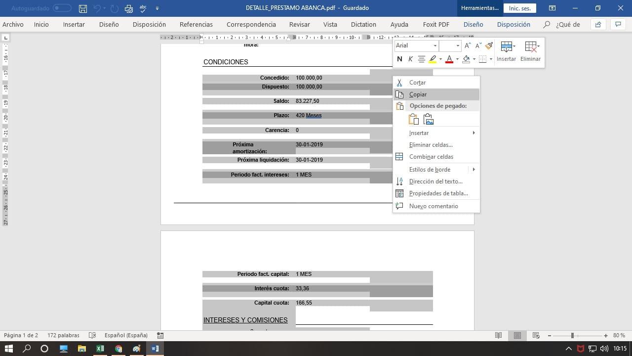 extraer informacion a Excel