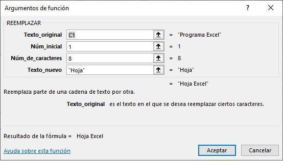 Reemplazar en Excel