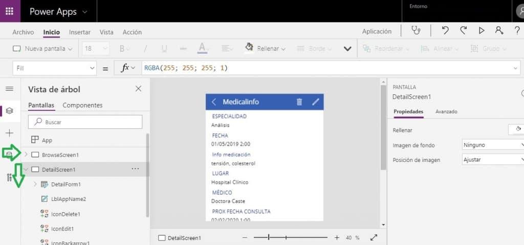 Editar apps